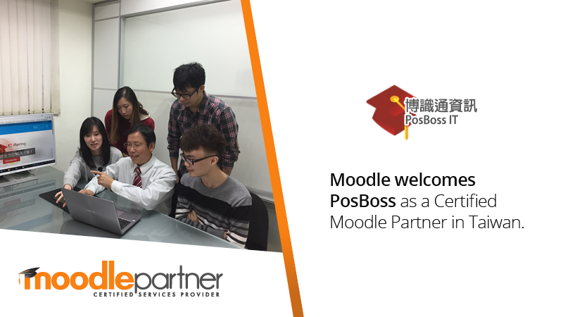 Moodle Welcomes Posboss as a Certified Moodle Partner in Taiwan.